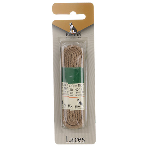Buy Cord Laces Pair, Beige, 100cm Online at johnlewis.com