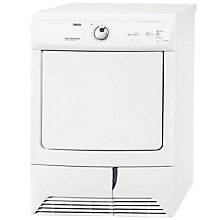 Buy Zanussi ZDC37200W Condenser Tumble Dryer, 7kg Load, C Energy Rating, White Online at johnlewis.com