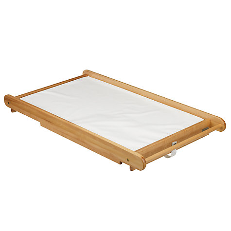 Buy John Lewis Cot Top Changer and Changing Mat, Beech Online at johnlewis.com