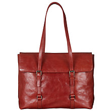 Buy John Lewis Claude Leather Long Handle Work Bag, Red Online at johnlewis.com