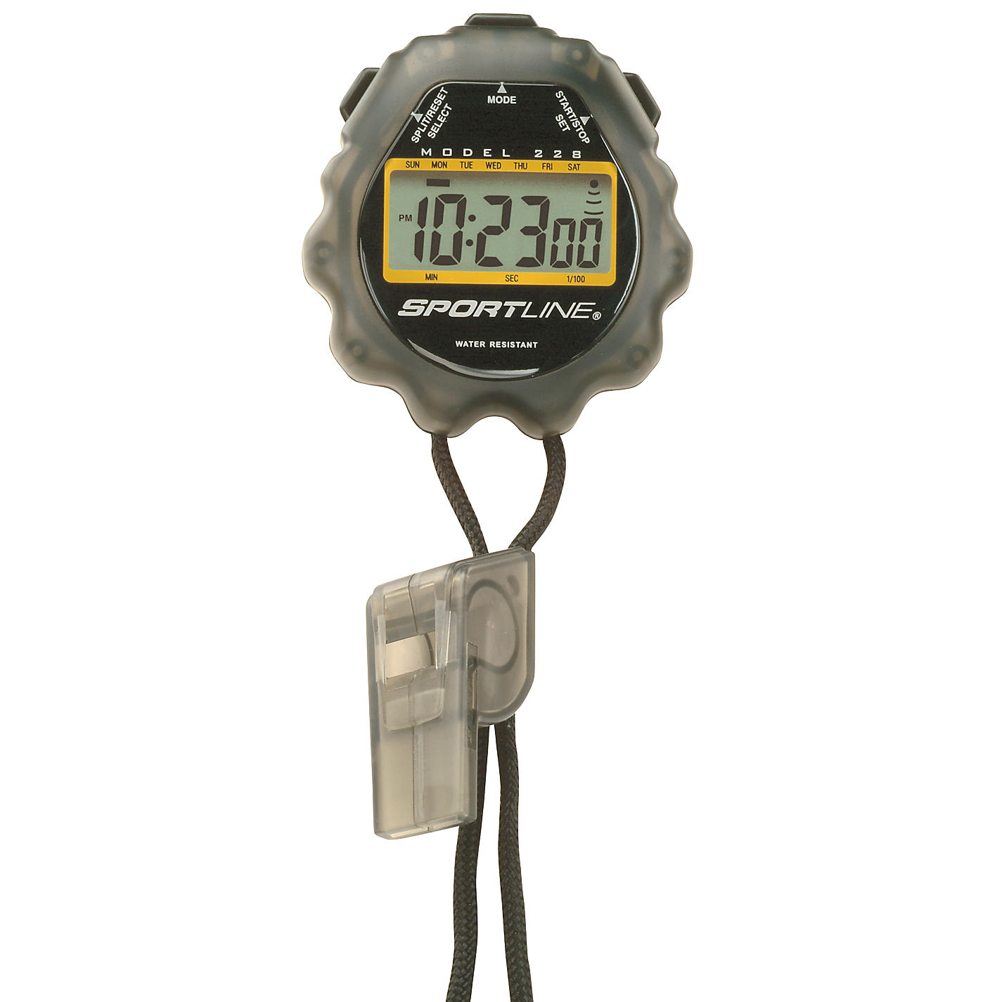 Sportline Stopwatch and Whistle Set Instructions