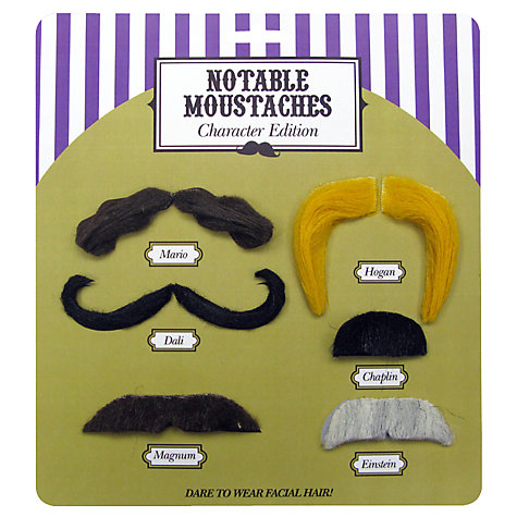 Buy Notable Moustaches, Assorted Online at johnlewis.com