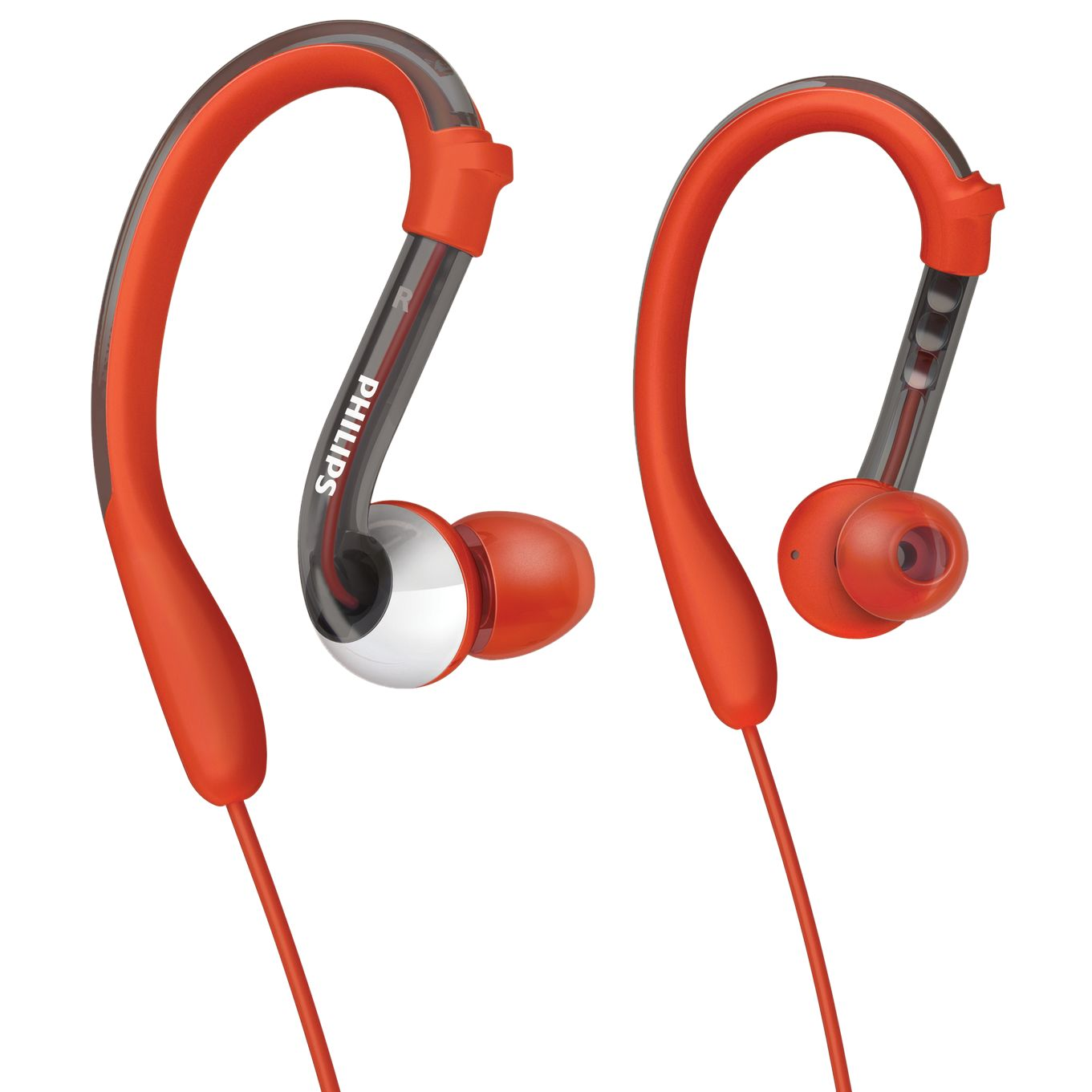 Around-ear clip headphones