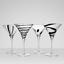Buy LSA International Jazz Cocktail Glasses, Set of 4, Black Online at johnlewis.com