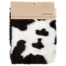 Buy John Lewis Faux Fur Hangsell, Black Cow Online at johnlewis.com