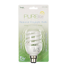 Buy PURElite Natural Daylight Bulb BC, 15 Watt Online at johnlewis.com