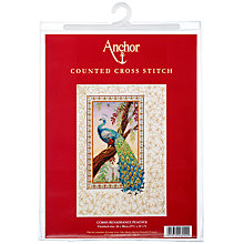 Buy Cross Stitch Renaissance Peacock Kit Online at johnlewis.com