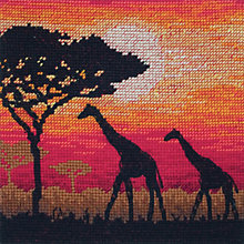 Buy Anchor Giraffe Silhouette Cross Stitch Kit Online at johnlewis.com