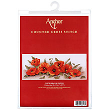 Buy Anchor Spray of Poppies Cross Stitch Kit Online at johnlewis.com