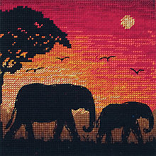 Buy Anchor Elephant Silhouette Cross Stitch Kit Online at johnlewis.com