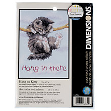Buy Dimensions Hang On Kitty Cross Stitch Kit Online at johnlewis.com