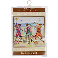 Buy Bothy Threads Ladies Who Lunch: Dessert Alfresco Cross Stitch Kit Online at johnlewis.com