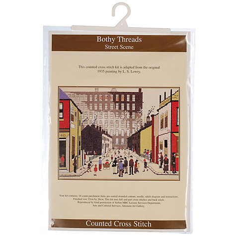 Buy Bothy Threads Street Scene Cross Stitch Kit Online at johnlewis.com