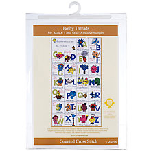 Buy Bothy Threads Mr Men and Little Miss Alphabet Cross Stitch Kit Online at johnlewis.com