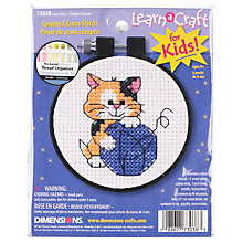 Buy Dimensions Cute Kitty Counted Cross Stitch Starter Kit Online at johnlewis.com