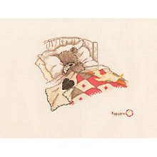 Buy Popcorn Bear Cuddle Up Cross Stitch Kit Online at johnlewis.com