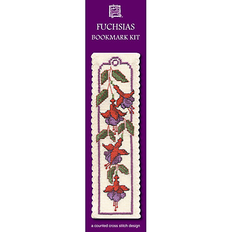 Buy Textile Heritage Fuchsias Bookmark Cross Stitch Kit Online at johnlewis.com