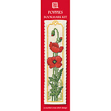 Buy Textile Heritage Poppies Bookmark Cross Stitch Kit Online at johnlewis.com
