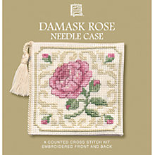 Buy Textile Heritage Damask Rose Needle Case Cross Stitch Kit Online at johnlewis.com