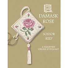Buy Textile Heritage Damask Rose Scissor Keep Cross Stitch Kit Online at johnlewis.com