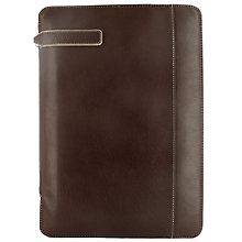Buy Filofax Holborn Zipped A4 Folder, Brown Online at johnlewis.com