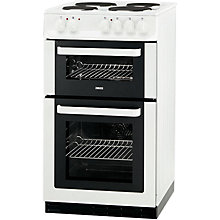 Buy Zanussi ZCE560DW Electric Cooker, White Online at johnlewis.com
