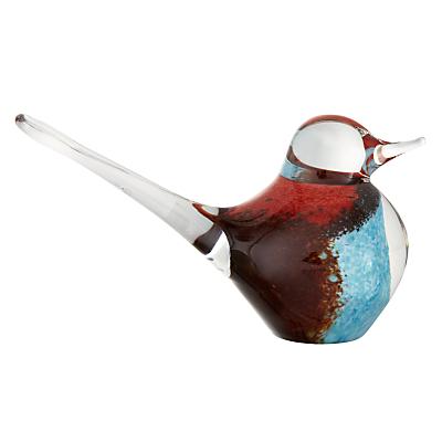 Image of Svaja Basil Bird Paperweight, Brown/Teal
