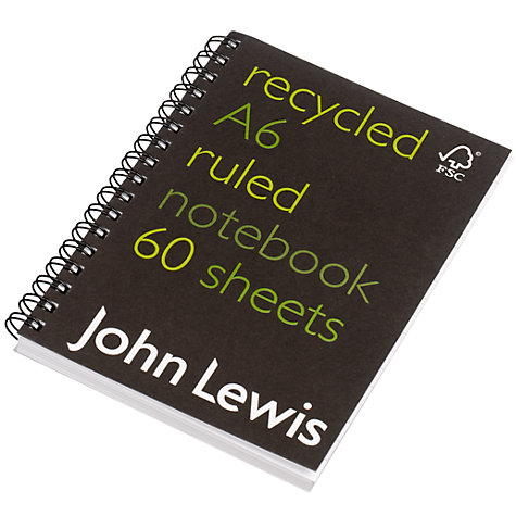 Buy John Lewis FSC Recycled Notebook, A6 Online at johnlewis.com