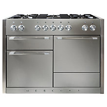Buy Mercury MCY1200DFSS Dual Fuel Cooker, Stainless Steel Online at johnlewis.com