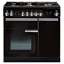 Buy Rangemaster Professional+ 90 Dual Fuel Range Cooker and LEIHDC90BC Chimney Cooker Hood, Black Online at johnlewis.com