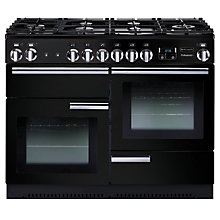 Buy Rangemaster Professional+ 110 Dual Fuel Range Cooker and LEIHDC110BC Chimney Cooker Hood, Black Online at johnlewis.com