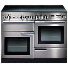 Buy Rangemaster Professional+ 110 Induction Hob Range Cooker and LEIHDC110SC Chimney Cooker Hood, Stainless Steel Online at johnlewis.com
