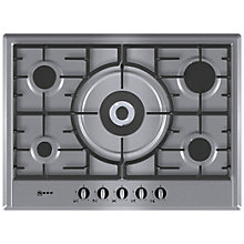 Buy Neff T25S56N0GB Gas Hob, Stainless Steel Online at johnlewis.com