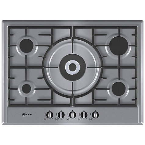 buy neff t25s56n0gb gas hob stainless steel john lewis. Black Bedroom Furniture Sets. Home Design Ideas
