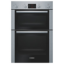 Buy Bosch HBM43B250B Double Oven, Brushed Steel Online at johnlewis.com