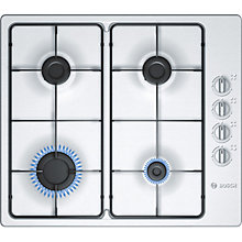 Buy Bosch PBP615B80E Gas Hob, Stainless Steel Online at johnlewis.com