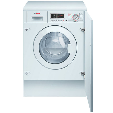 Buy Bosch WKD28540GB Integrated Washer Dryer, 6kg Wash/3kg Dry Load, B Energy Rating, 1400rpm Spin Online at johnlewis.com