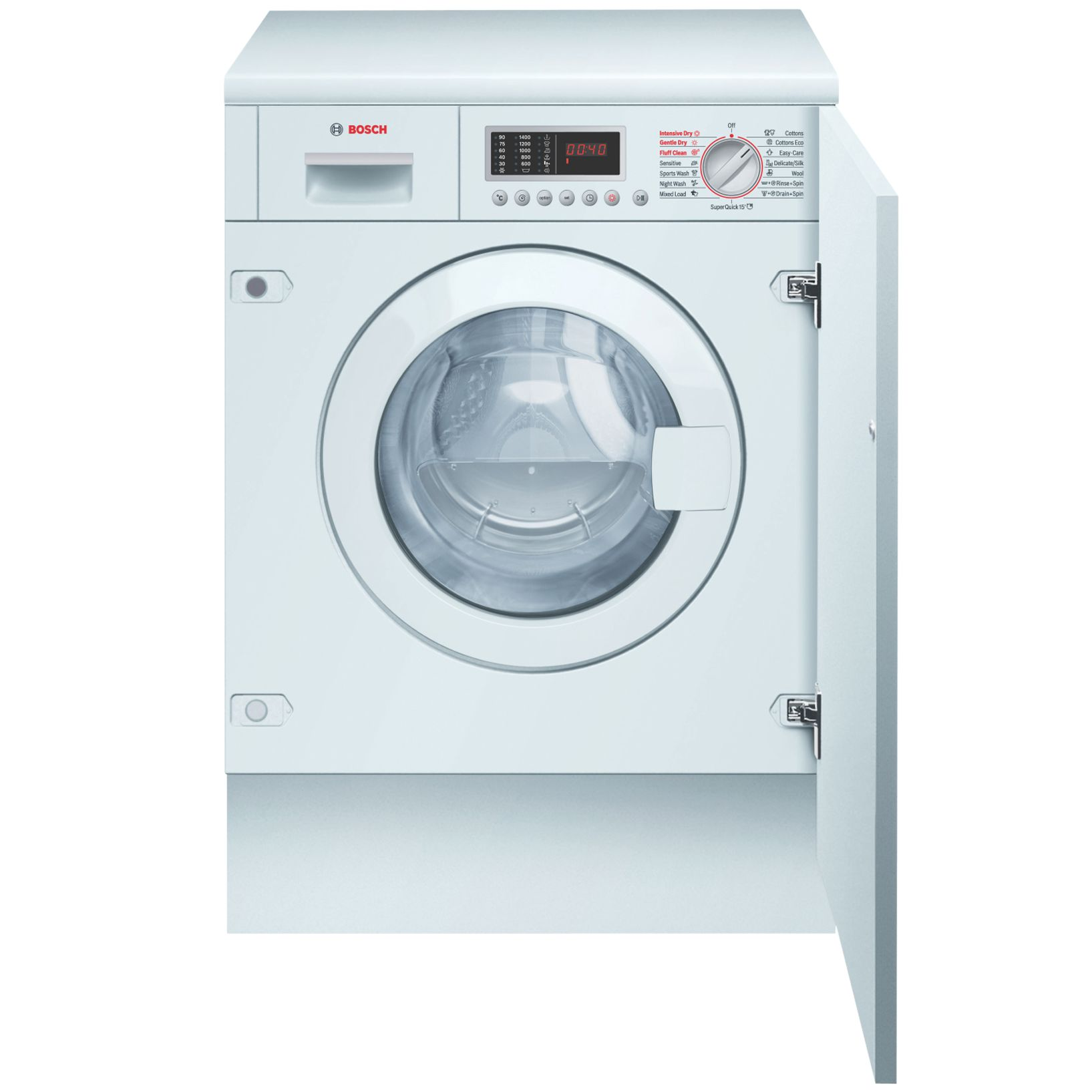 Bosch LogiXX WKD28540GB 6kg/3kg 1400 Spin Fully Integrated Washer Dryer in White