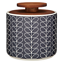 Buy Orla Kiely Linear Stem Storage Jar, Navy, 1L Online at johnlewis.com