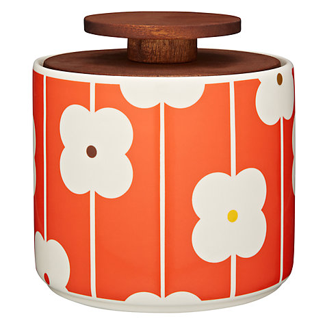 Buy Orla Kiely Abacus Flowers Storage Jar, Red/Orange, 1L Online at johnlewis.com