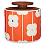 Orla Kiely Abacus Flowers Storage Jar, Red/Orange, 1L