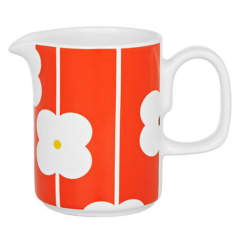 Buy Orla Kiely Abacus Flowers Milk Jug, Red, 0.35L Online at johnlewis.com