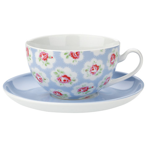 Buy Cath Kidston Cups and Saucers, Provence Rose, Set of 4, 0.2L, Multi Online at johnlewis.com
