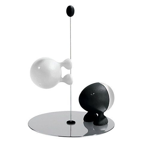 Buy Alessi, Lilliput, Salt and Pepper Set, Black and White Online at johnlewis.com
