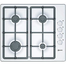 Buy Neff T21S36W1 Gas Hob, White Online at johnlewis.com