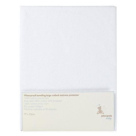 Buy John Lewis Baby Towelling Waterproof Cot Protector, 132 x 77cm Online at johnlewis.com