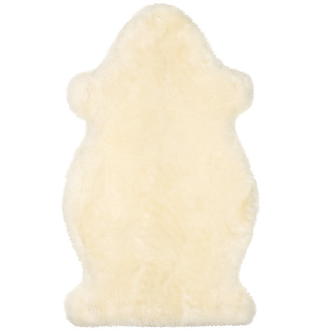 Buy John Lewis Sheepskin Baby Comforter, Ivory Online at johnlewis.com