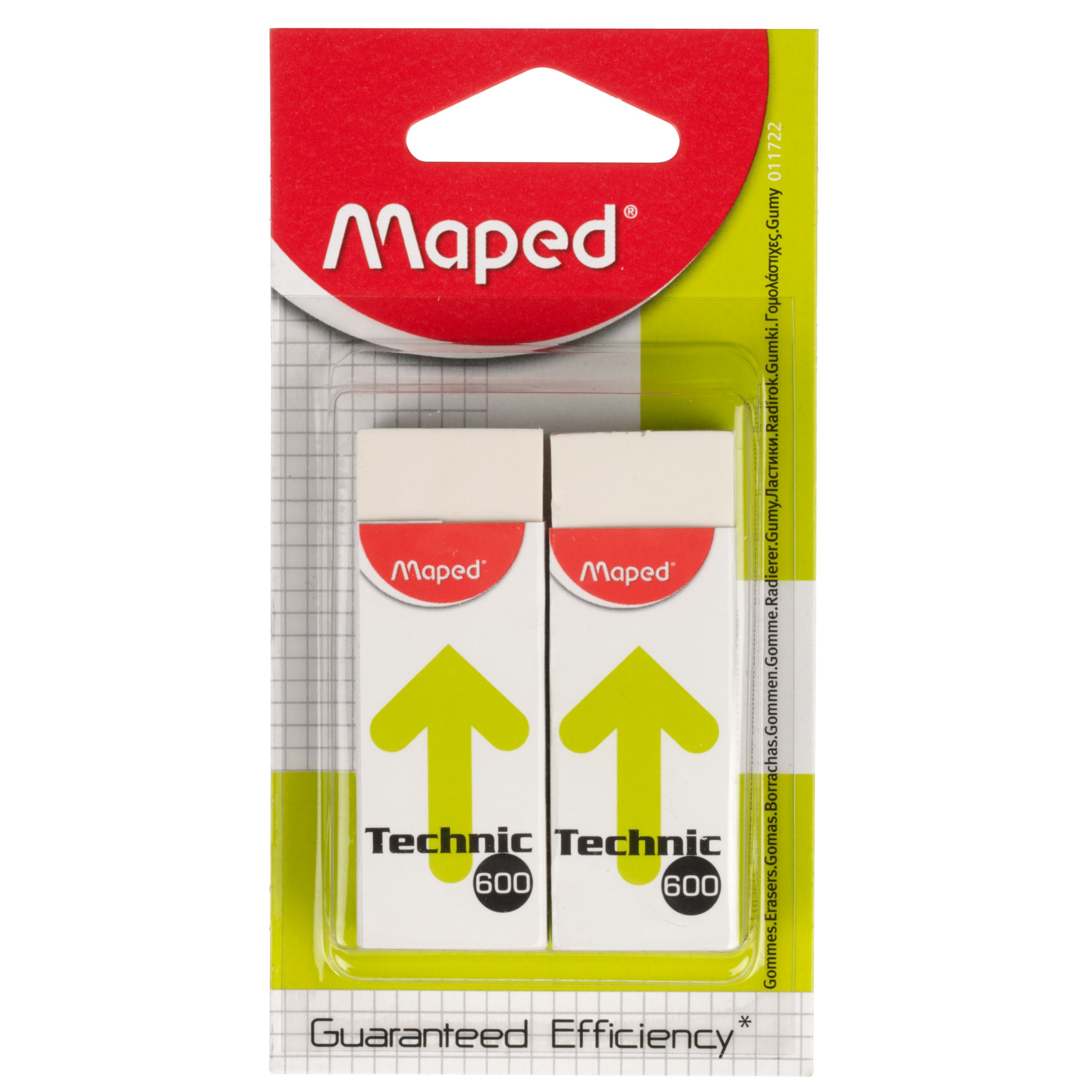 Maped Maped Technic Eraser, Pack of 2