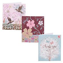Buy John Lewis Flitter Notecards, Pack of 12 Online at johnlewis.com