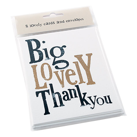 Buy Really Good Thank You Cards, Pack of 8 Online at johnlewis.com
